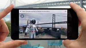 Google prototyping Article model viewer for AR and VR web experiences