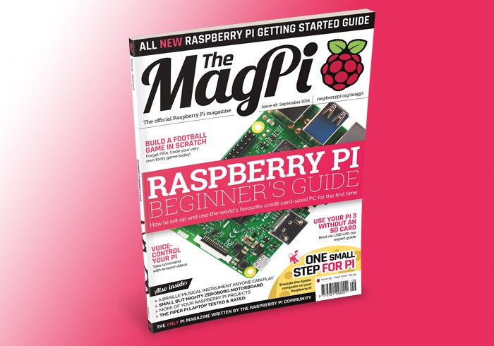 Official Raspberry Pi MagPi Magazine Issue 49