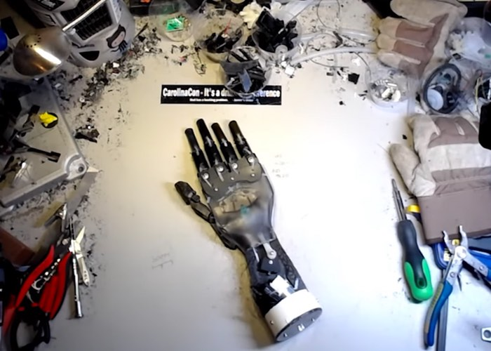 Awesome Robotic Hand Created From Desktop Coffee Machine