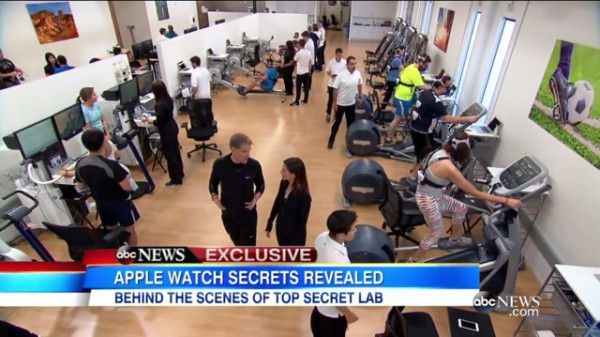 Apple's secret fitness lab revealed by 'Good Morning America'