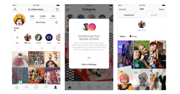 Instagram lets you Archive and Highlight your favorite expired Stories