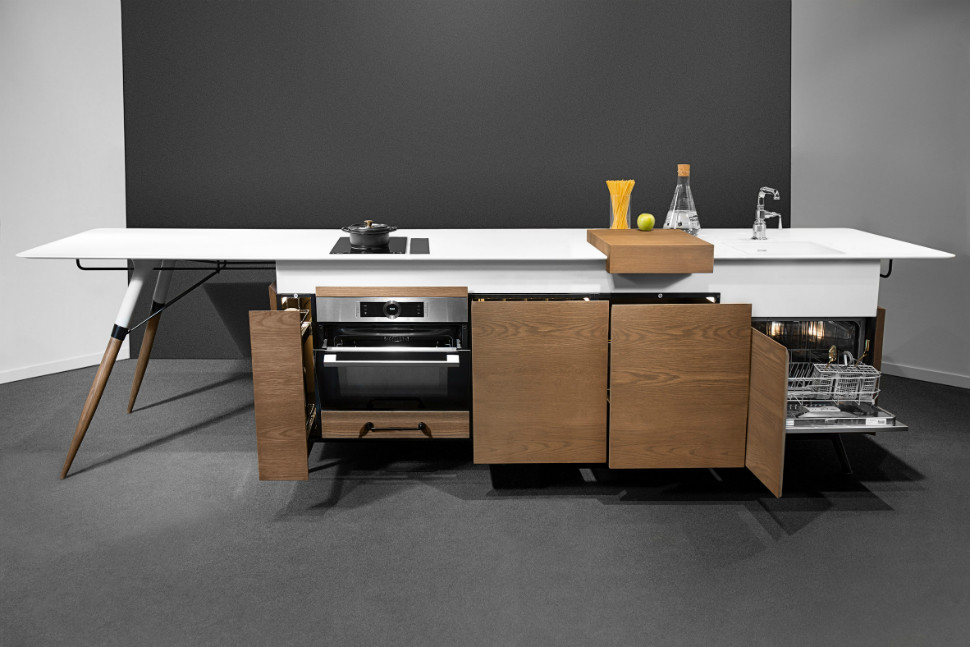 Kitch-T is a space-saving, movable, all-in-one designer kitchen island for millennials