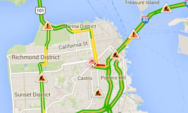 Google Maps instantly Features Real-time Crowd sourced Accident information