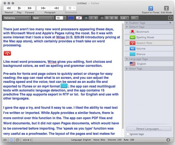 Wrise is a new and specialized word processor for Mac