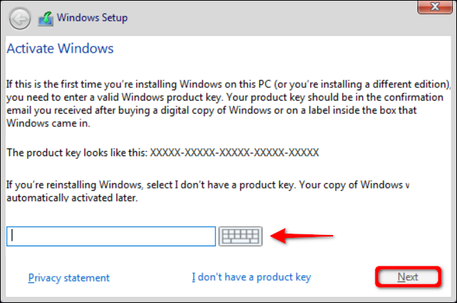 Activate Windows with Product Key