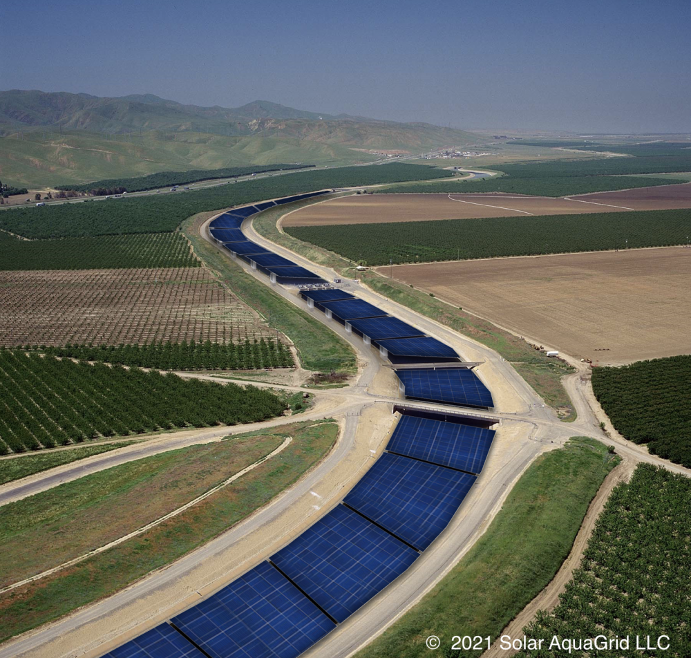 Solar panels and water canals could form a real power couple in California