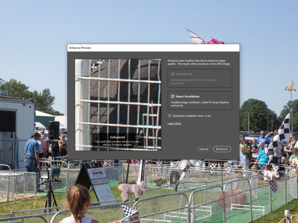 Photoshop's new Super Resolution feature makes images bigger, not blurrier